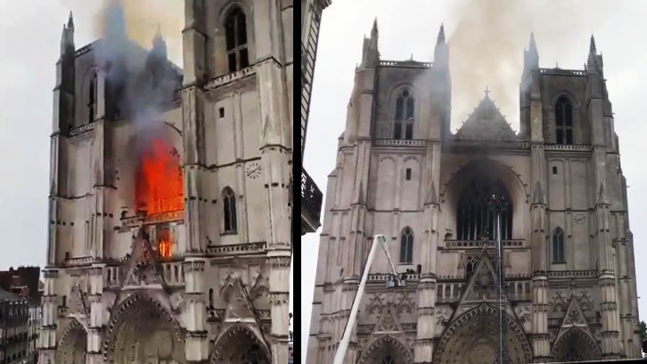 Grossbrand Kathedrale Nantes